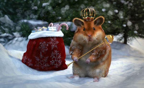 Новогодние хомяки - поздравления народу
